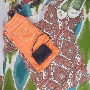 MISS ME Bermuda shorts neon orange size 28